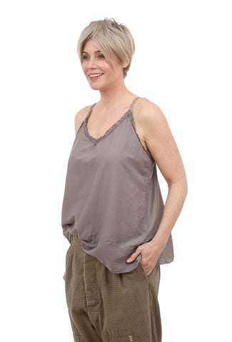 Magnolia Pearl Silk Layering Camisole, Tarnished Gray One Size Gray
