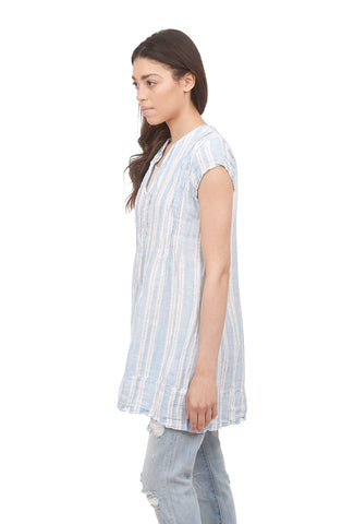 CP Shades Cap-Sleeve Regina Tunic, Blue Stripe