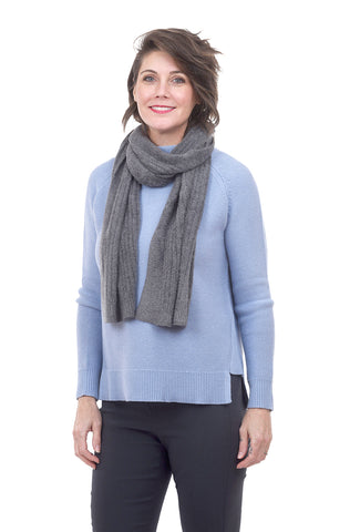 CCL Heather Ribbed Scarf, Graphite