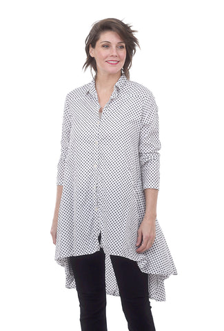 Tulip Lulu Tunic, White/Dot