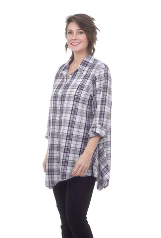 Tulip Harmony Shirt, Lilac Plaid