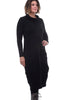 Luukaa FT Lantern Cowl Dress, Black