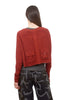 Rundholz Black Label Pocket Cropped Cardie, Berry Print