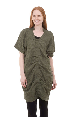 My Soul Gather-Center Bubble Tunic, Army