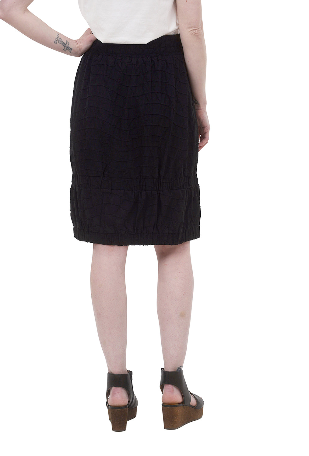My Soul Textured Bubble Skirt, Black