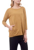 Cut Loose MicroModal Long Boxy Top, Brass