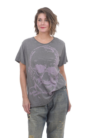 Magnolia Pearl New Boyfriend Tee, Great Soul Gray One Size Gray