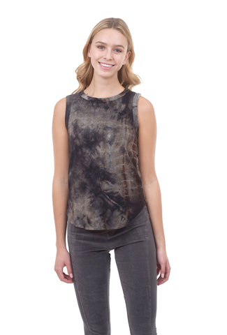 Coin1804 Cozy Tie-Dye Tank, Navy/Brown