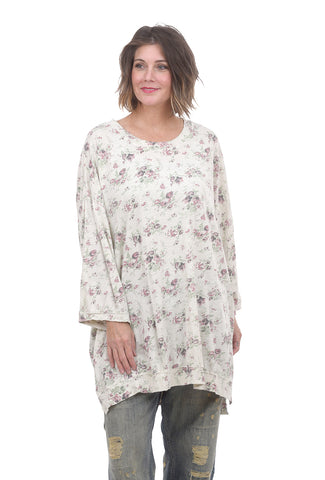 Magnolia Pearl Floral Print Francis Pullover, Wine Rose One Size Wine