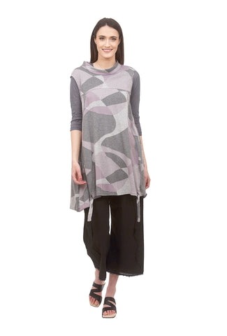 Ji-U Soothing Scape Tunic, Gray/Lavender One Size Lavender