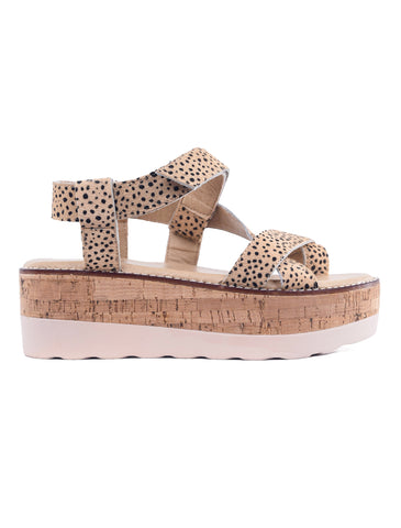 Corkys Oro Sandal, Brown Speckle