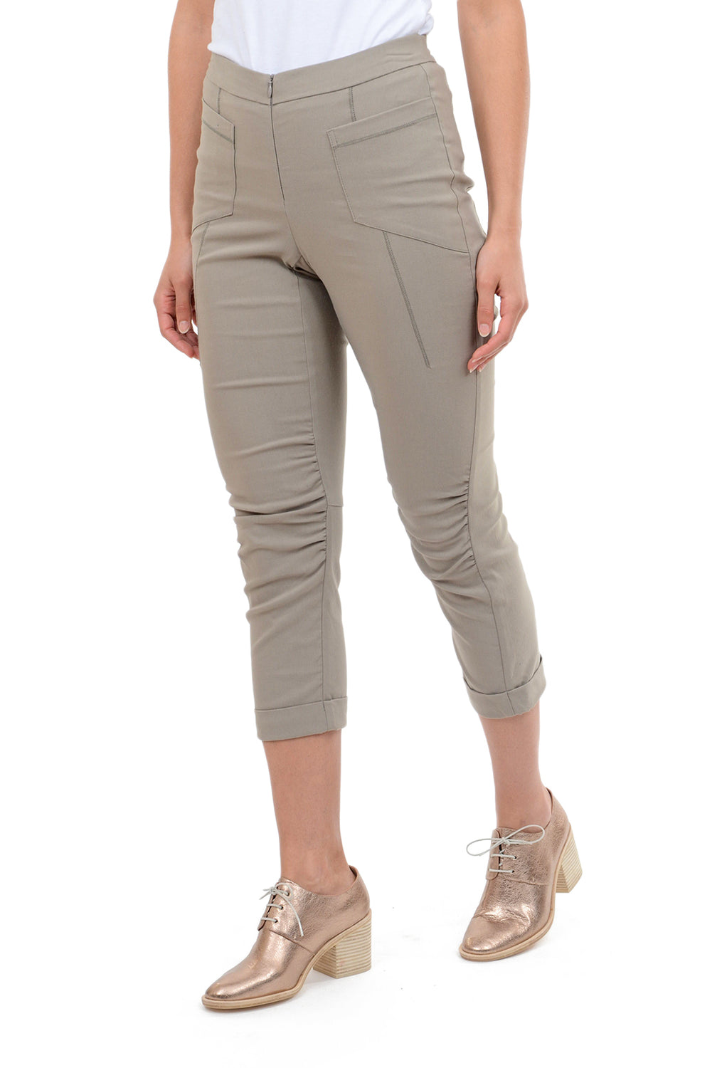 Porto Moped Pants, Linen Taupe