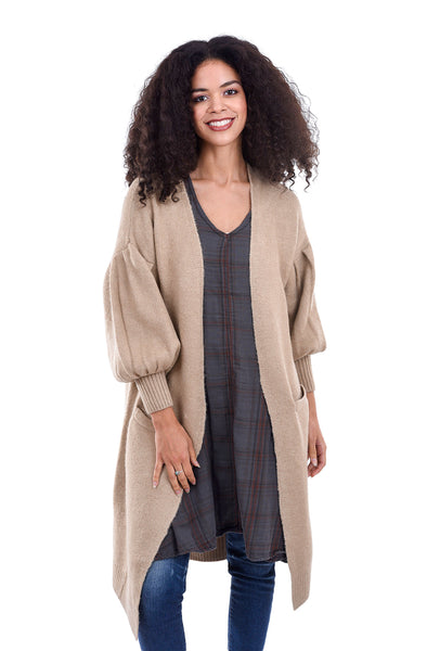 Cynthia Ashby Transit Knit Jacket, Brown Sugar
