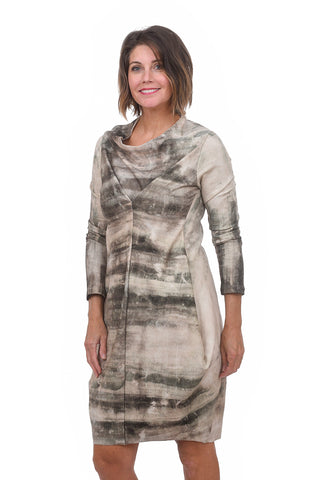 Veronique Miljkovitch Rawa Dress, Cement Print