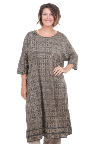 Magnolia Pearl Nara Smock Dress, Himalaya Brown One Size Brown