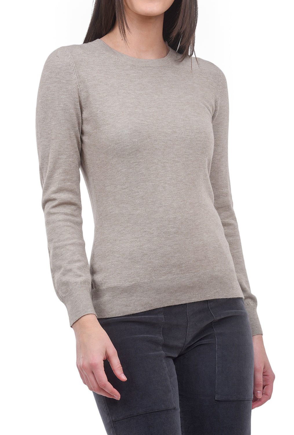 Sisters Spare Crew Sweater, Taupe