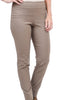 Estelle & Finn Straight-Leg Stretch Pant, Taupe