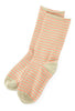 Little River Sock Mill Striped Slouch Socks, Sage/Salmon