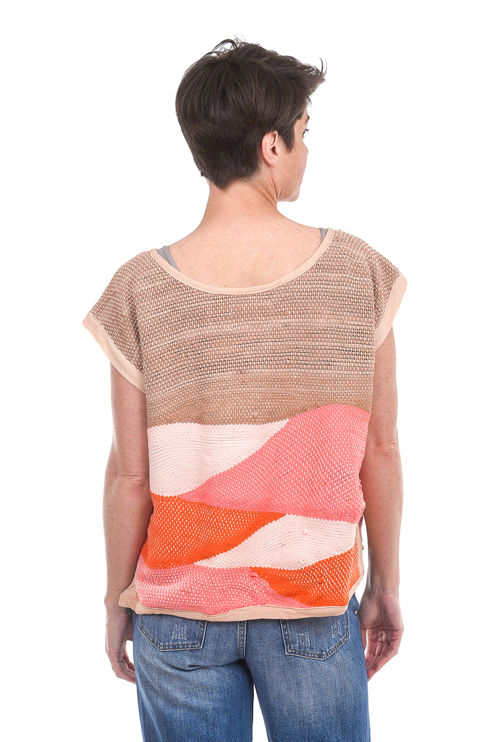 Tonle Landscape Top, Mesa Orange One Size Orange