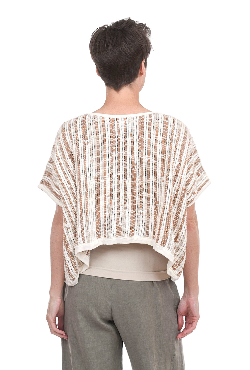 Tonle Srey Crop Top, Natural One Size Natural