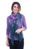 Blue Pacific Horizontal Tie-Dye Scarf, Dark Teal One Size Teal
