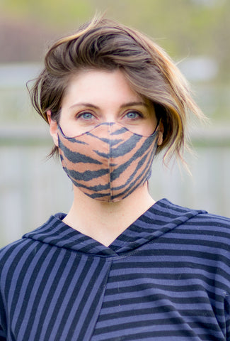 Color Me Cotton CMC Print Face Mask, Tiger Stripe