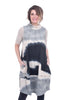 Mao Mam Mao Mam Pocket Bubble Dress, Gray/Ecru One Size Gray