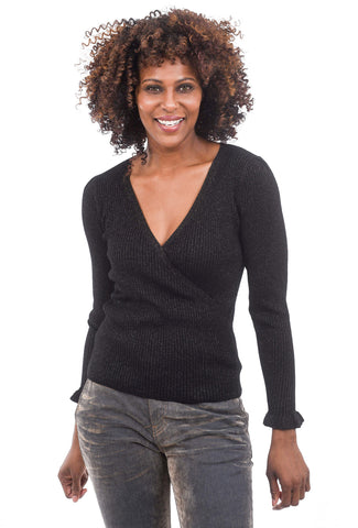 Margaret O'Leary Knits Fiona Sparkle Pullover, Black
