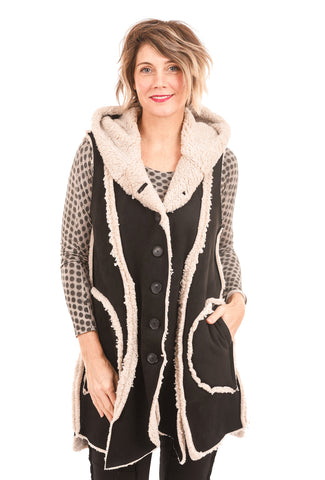 Cynthia Ashby Hush Vest, Black
