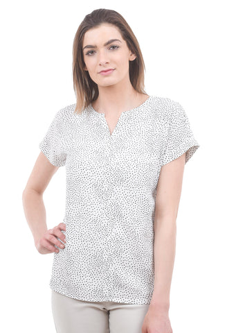 Soya Grace Dot Blouse, Off-White