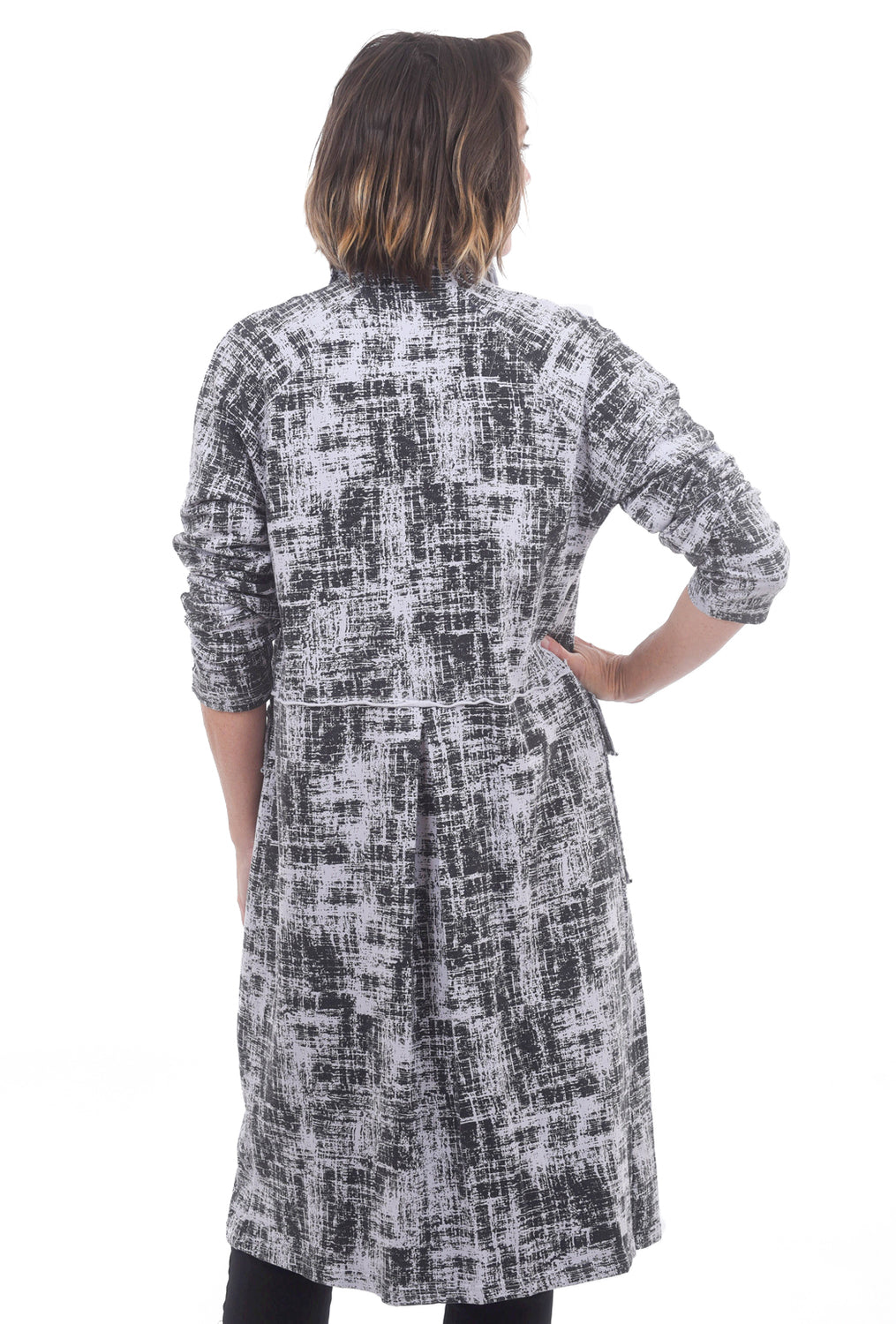 Fenini Printed Fleece Coat, Fog