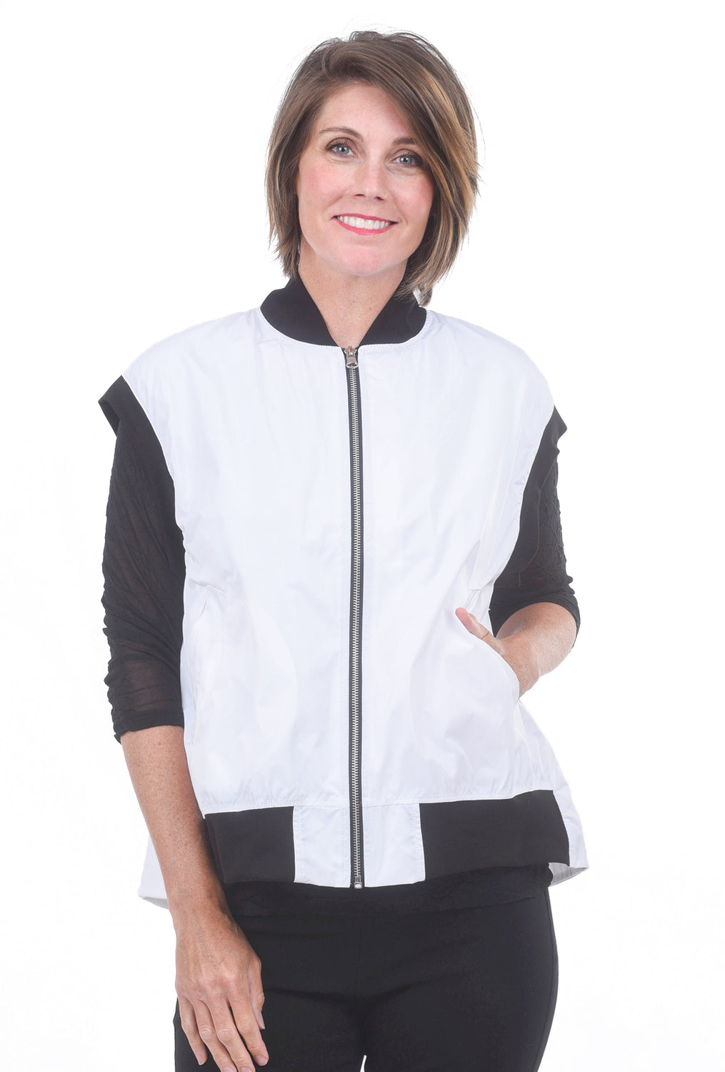 Planet Just The Best Vest, White/Black