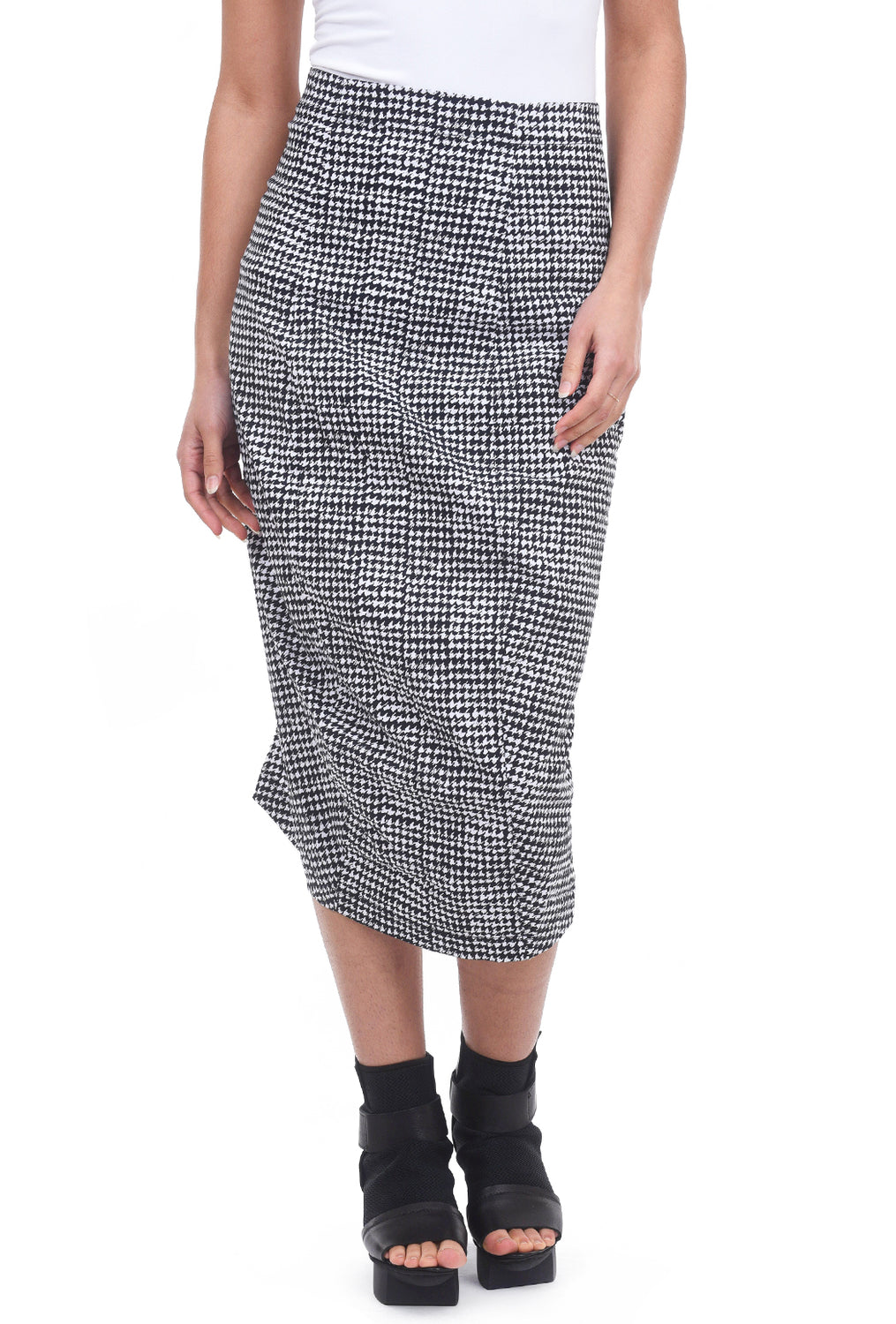 6464bdb78 Rundholz Black Label Tuck Houndstooth Skirt, Black/White – Evie Lou