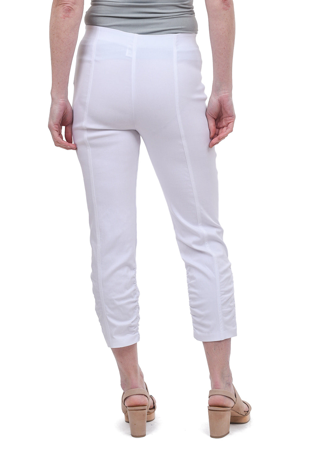 Equestrian Ruched Hope Pants, White
