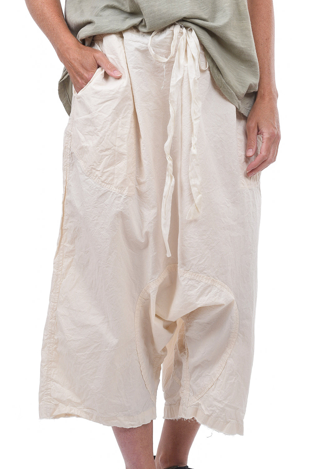 Magnolia Pearl Poplin Garcon Trousers, Natural One Size Natural