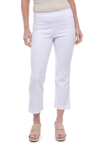 Estelle & Finn EF Cropped Flared Pants, White
