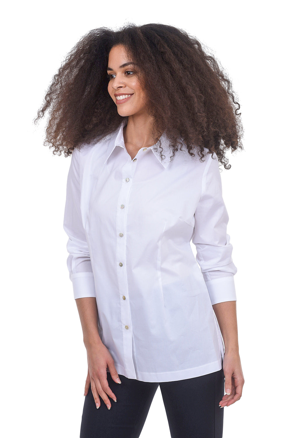Estelle & Finn Back Tie Woven Shirt, White