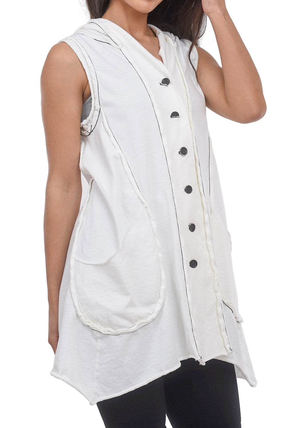 Cynthia Ashby Drift Vest, White