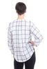Current Air Windowpane Plaid Blouse, White/Black