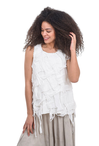 Rundholz DIP Braided Woven Top, White