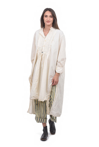 Magnolia Pearl Cordelia Nightshirt Dress, Natural One Size Natural