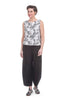 Cut Loose Linen Lantern Pants, Black