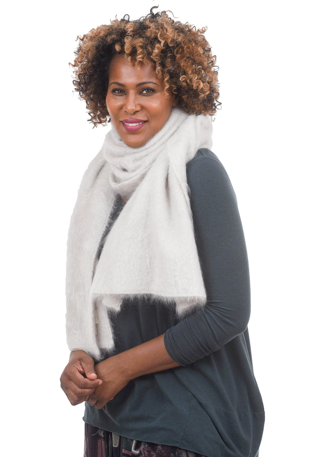 Grisal Big Furry Scarf, Snowish One Size Snowish
