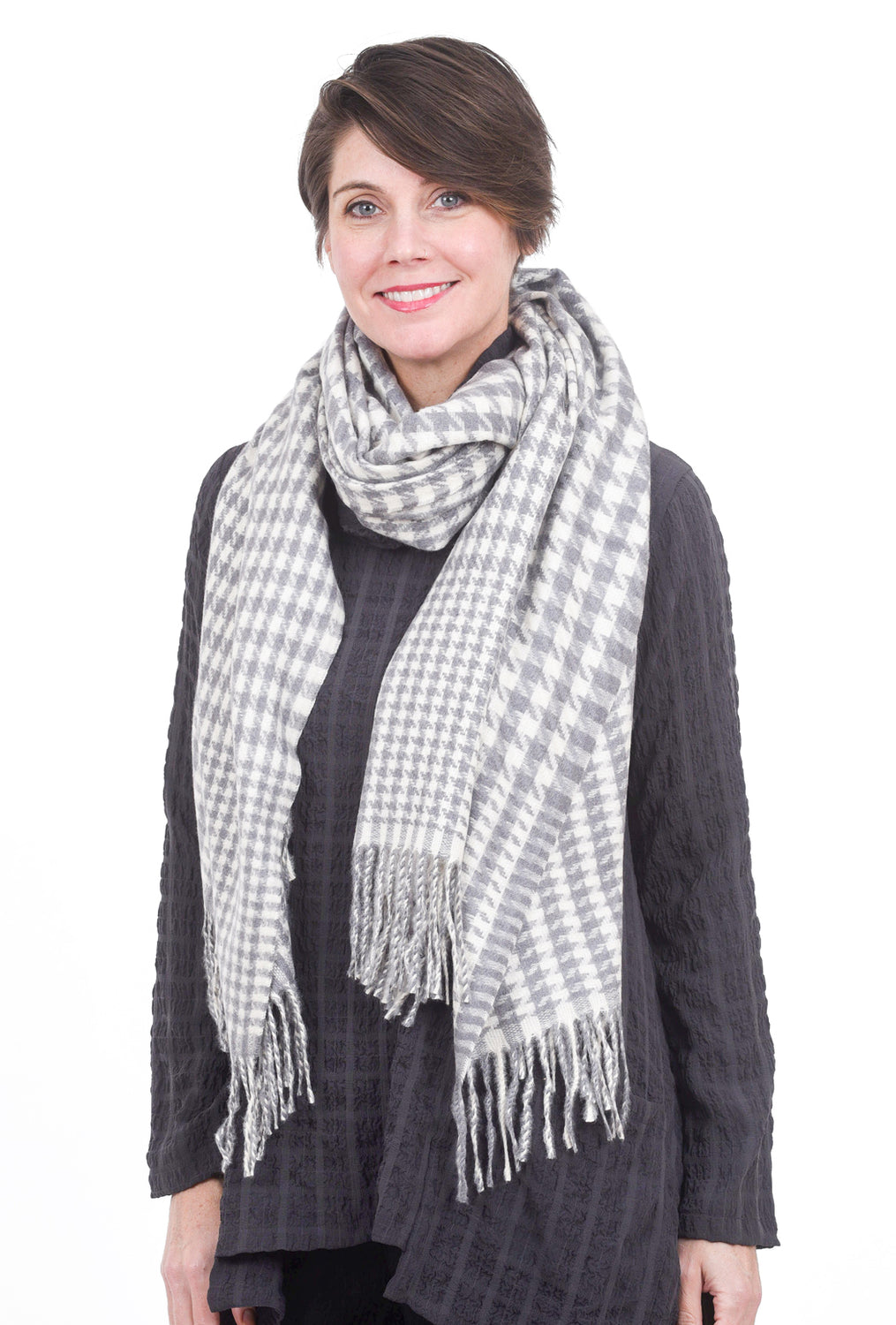 Pretty Persuasions PP Ainsley Scarf, Gray One Size Gray