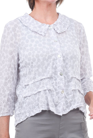 Chalet Lizzy Dot Cardie, Vapor Gray