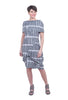 Porto Bilbao Print Dress, Spruce Pod