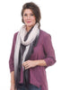 Blue Pacific Cashmere Bliss Scarf, Charcoal/Rose