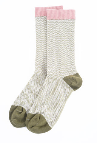 Little River Sock Mill Shelby Textured HB Crew Sock, Sage