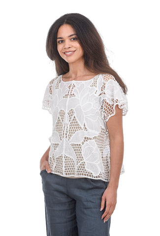 The Korner Crochet Easy Top, White