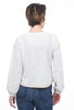 Hem & Thread Stripe Yoke Contrast Pullover, Cream/Navy